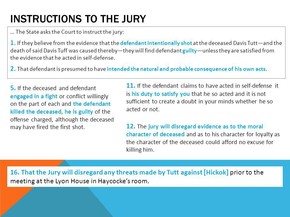 INSTRUCTIONS TO THE JURY … The State asks the Court to instruct the jury: 1.