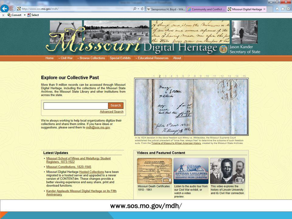 www.sos.mo.gov/mdh/