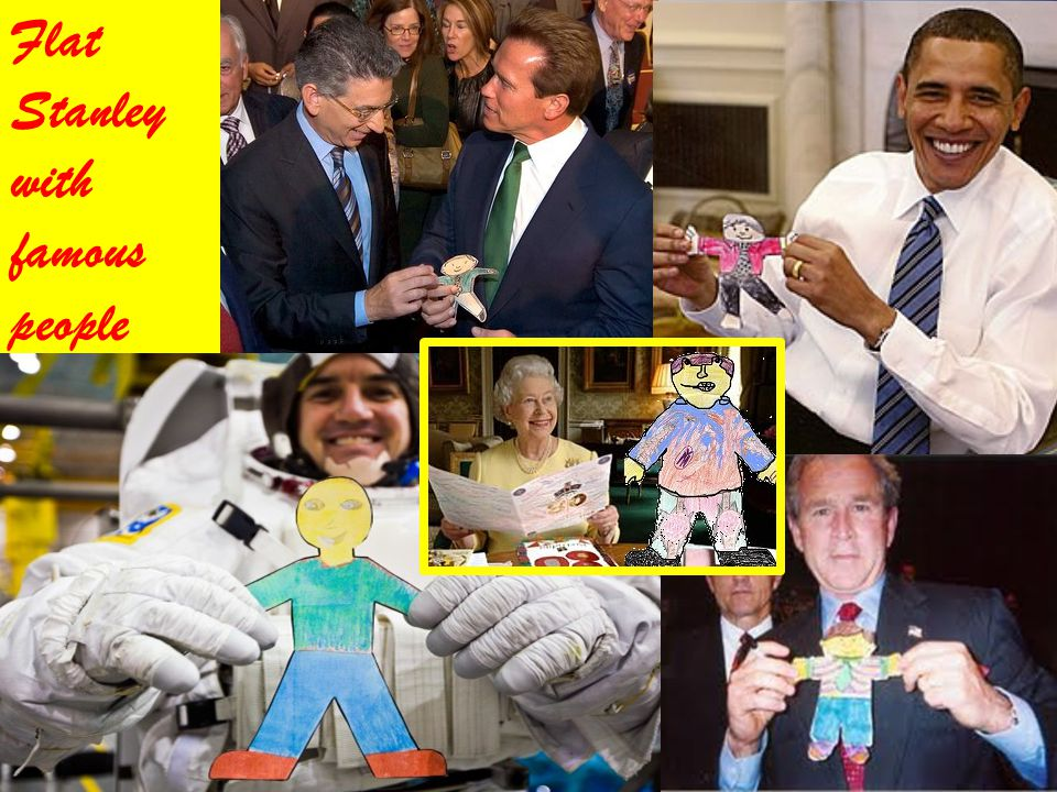 Flat Stanley with famous people