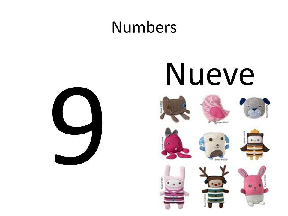 Numbers 9 Nueve