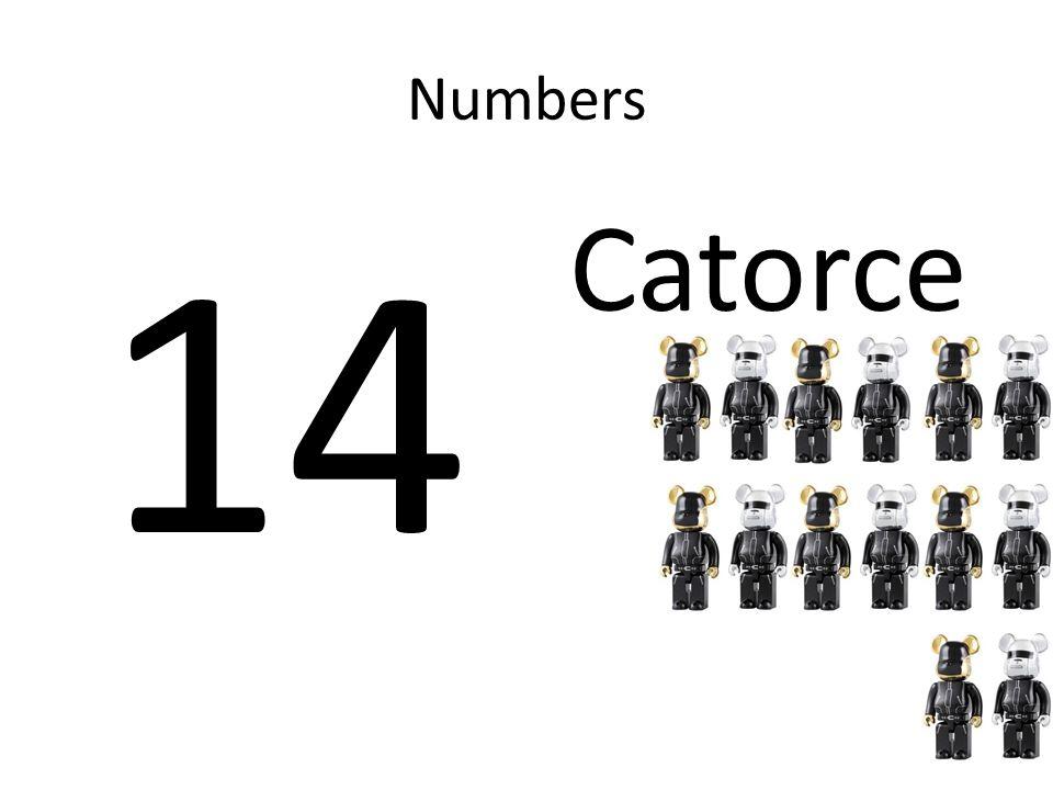Numbers 14 Catorce