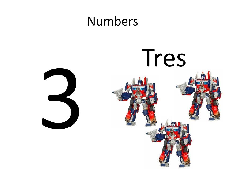 Numbers 3 Tres