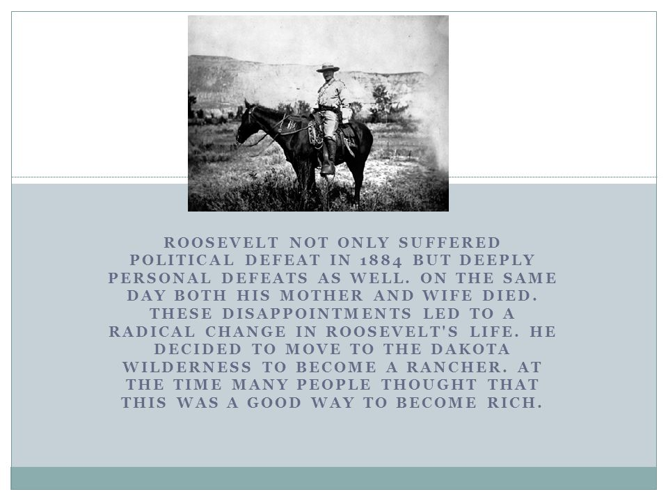 BETWEEN 1918 AND 1919, ROOSEVELT REMAINED ACTIVE IN POLITICS.