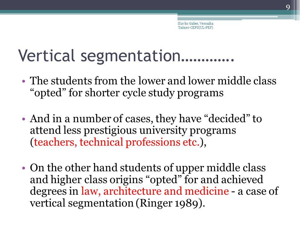 Vertical segmentation………….