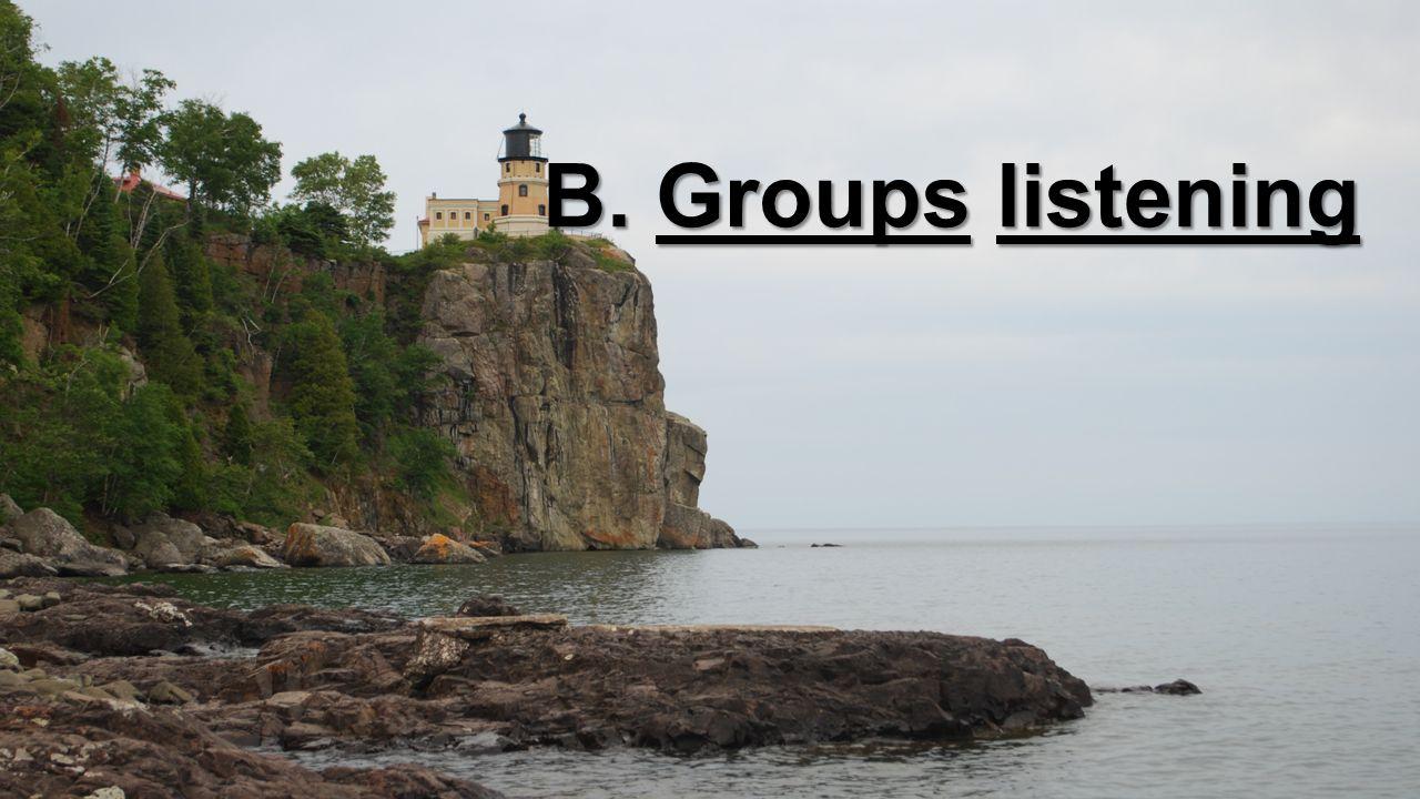 B. Groups listening