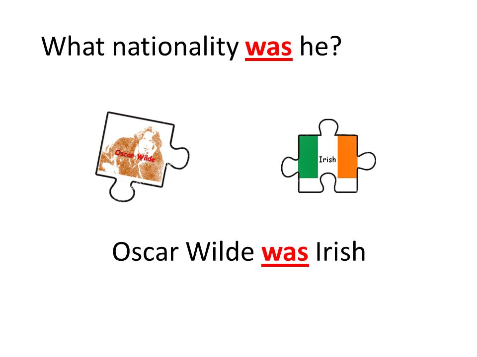 Oscar Wilde was Irish What nationality was he