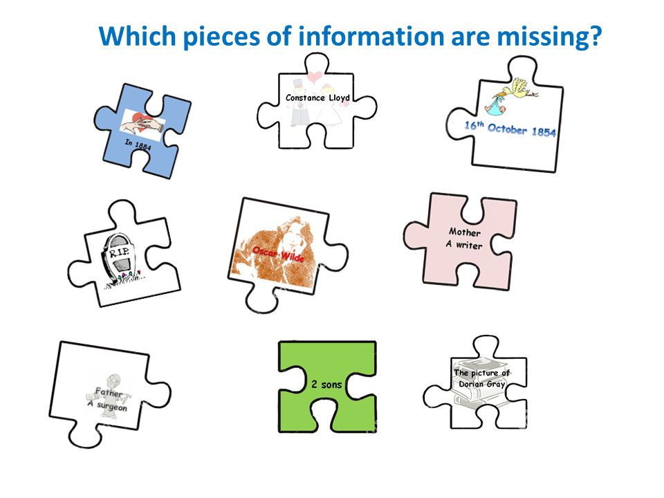 Which pieces of information are missing
