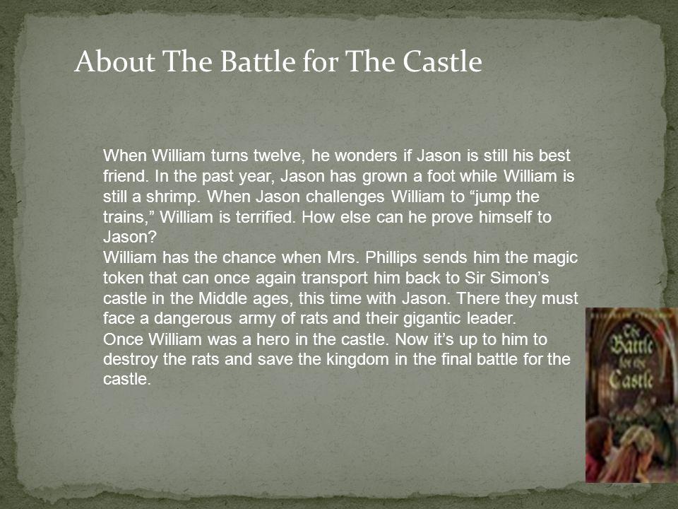 When William turns twelve, he wonders if Jason is still his best friend.