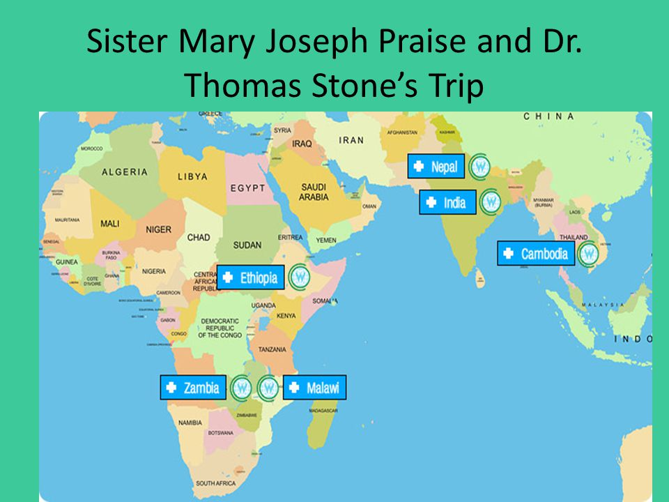 Sister Mary Joseph Praise and Dr. Thomas Stone's Trip