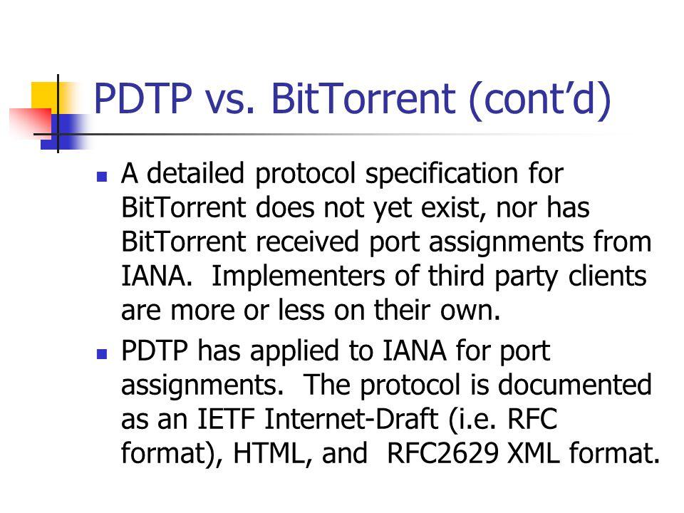 PDTP vs.