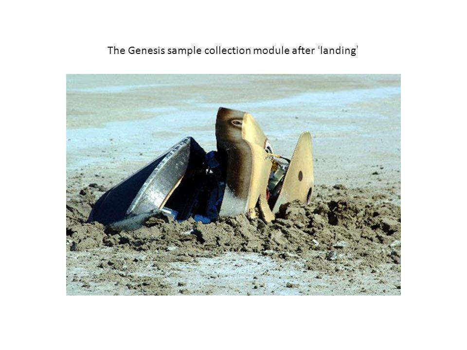 The Genesis sample collection module after 'landing'
