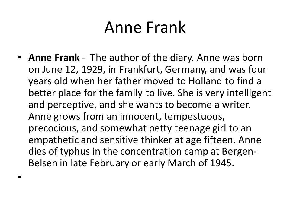 Otto Frank In Anne's eyes, Mr.