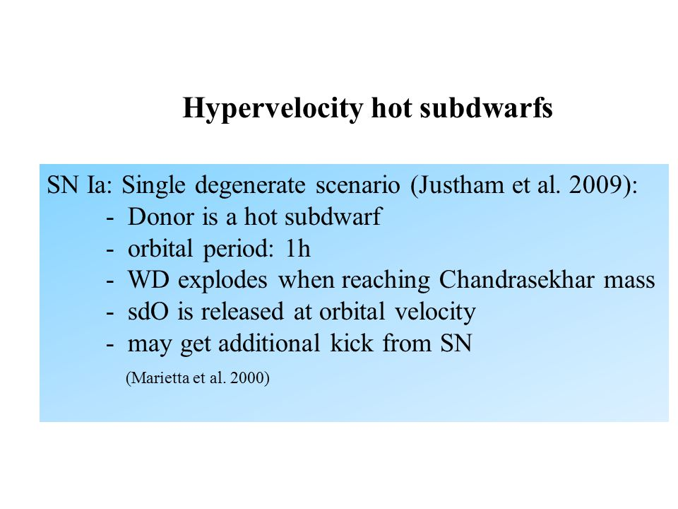 Hypervelocity hot subdwarfs SN Ia: Single degenerate scenario (Justham et al.