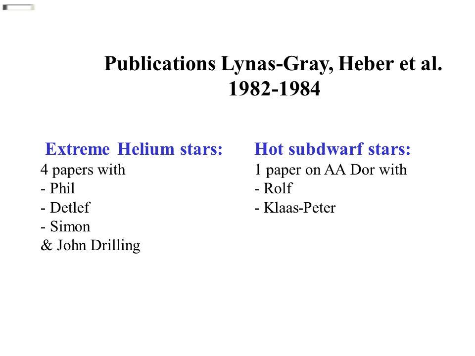 Publications Lynas-Gray, Heber et al.