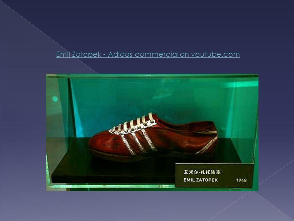 Emil Zatopek - Adidas commercial on youtube.com