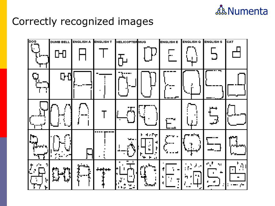Correctly recognized images
