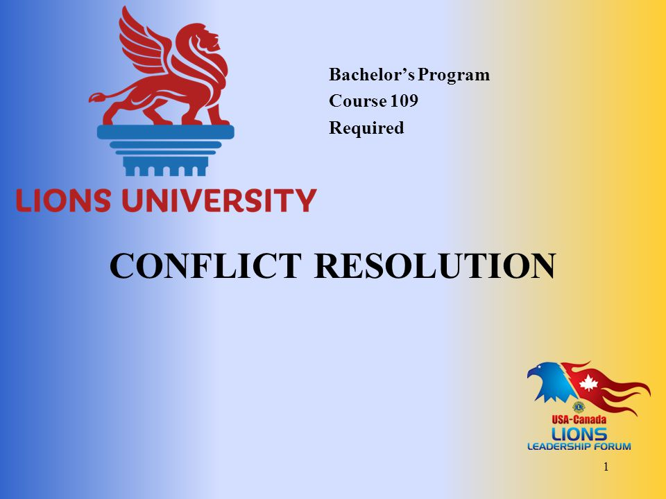 Dealing with Conflict 12