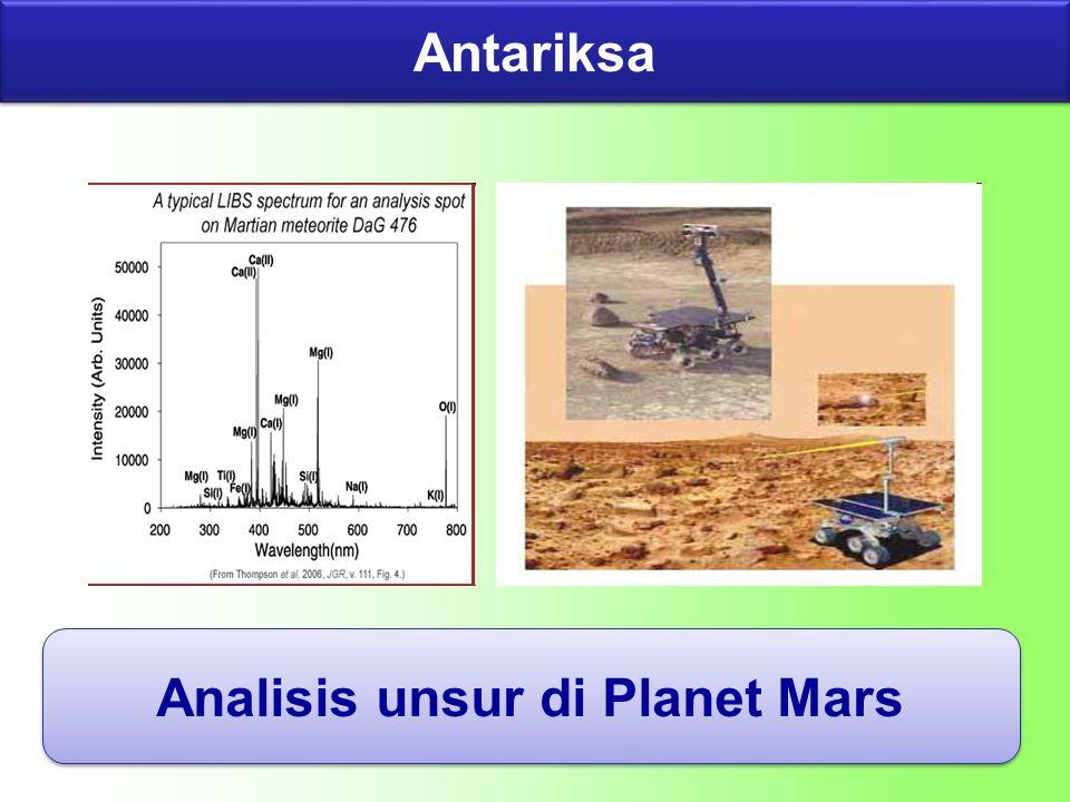 Antariksa Analisis unsur di Planet Mars