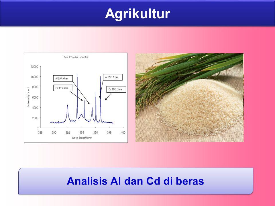Agrikultur Analisis Al dan Cd di beras