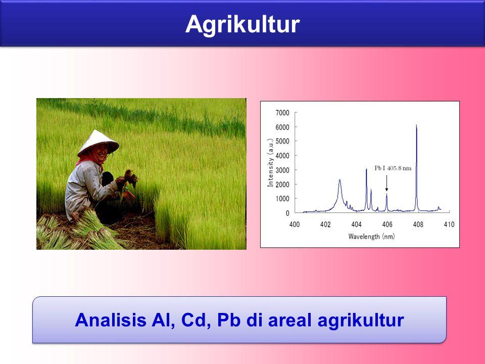 Agrikultur Analisis Al, Cd, Pb di areal agrikultur