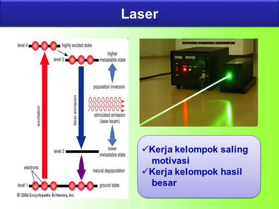 Laser Kerja kelompok saling motivasi Kerja kelompok hasil besar