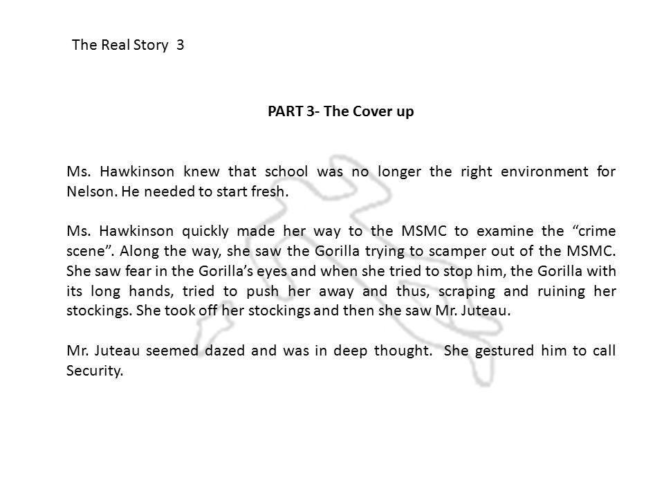 The Real Story 3 PART 3- The Cover up Ms.