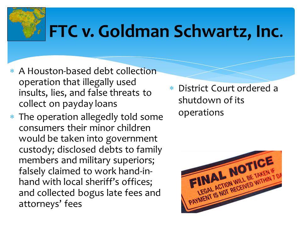 FTC v. Goldman Schwartz, Inc.