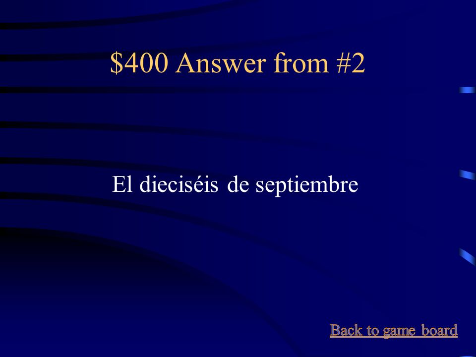 $400 Question from #2 September 16