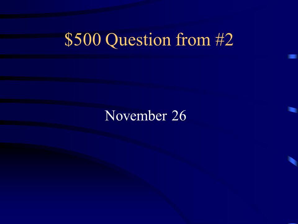 $400 Answer from #2 El dieciséis de septiembre