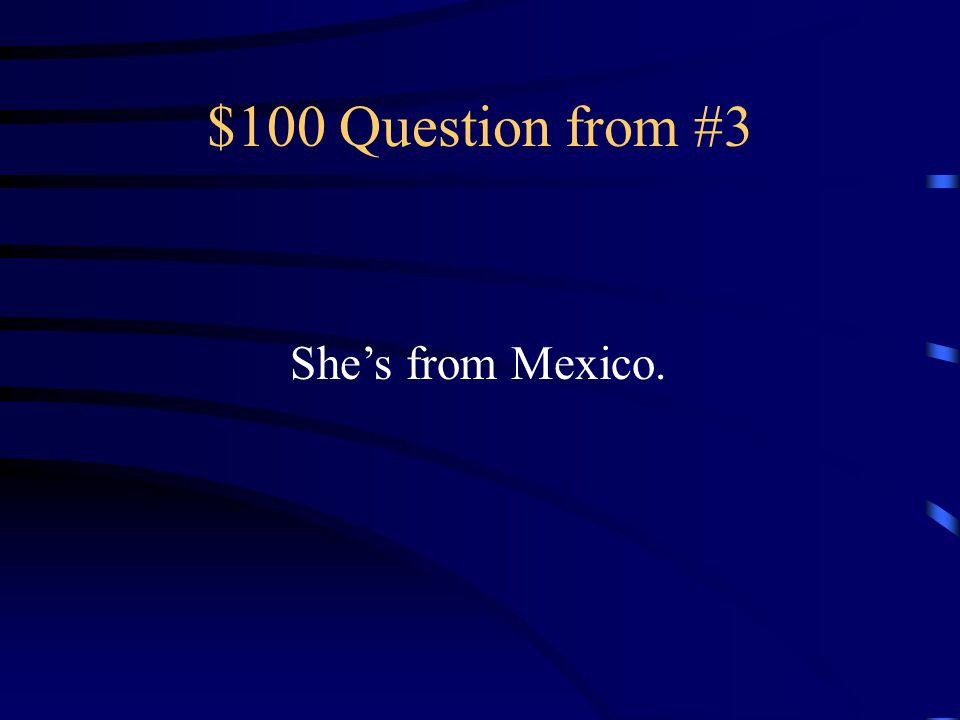 $500 Answer from #2 El veintiséis de noviembre
