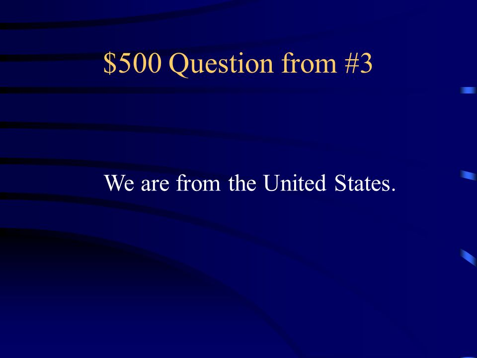 $400 Answer from #3 El doctor es de la Inglaterra.