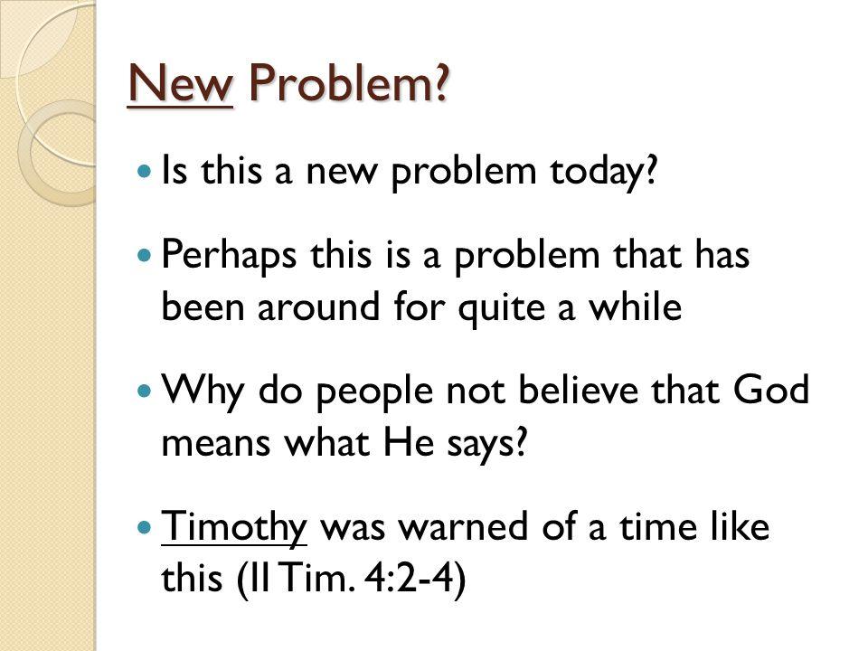 New Problem.