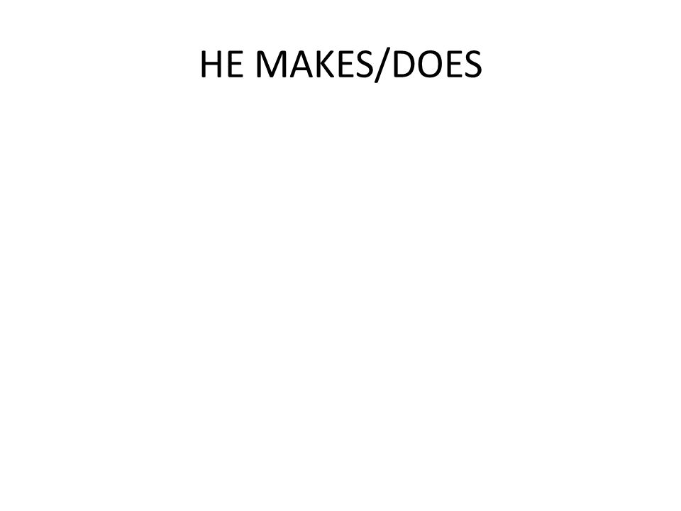 HE SAW