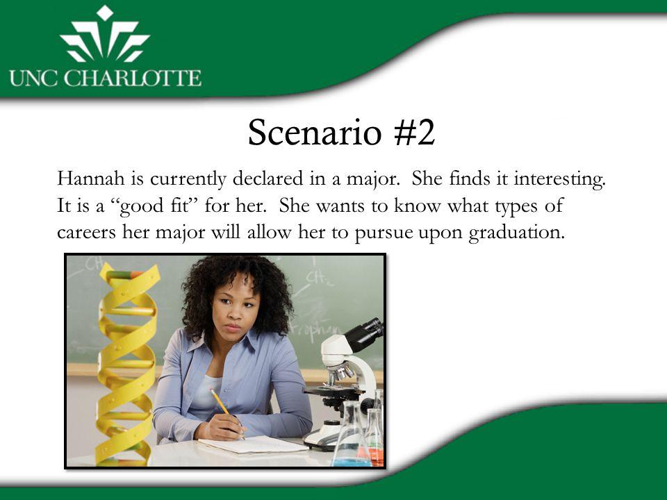 Scenario #2 Hannah is currently declared in a major.