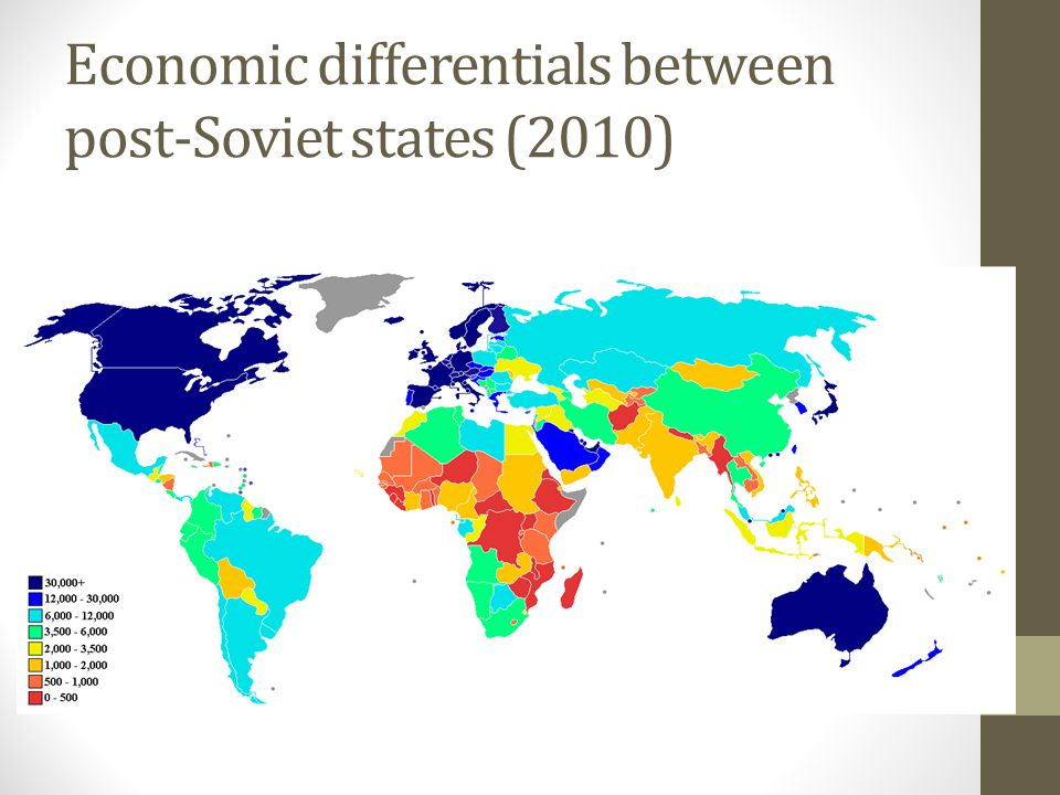 Economic differentials between post-Soviet states (2010)