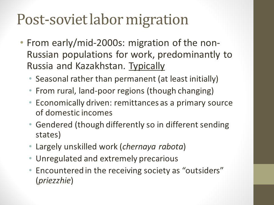 I. A story of economic migration?