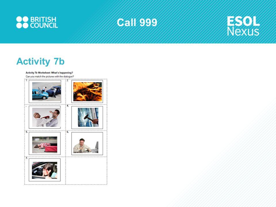 Call 999 Activity 7b