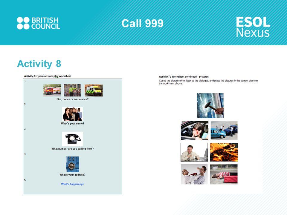 Call 999 Activity 8