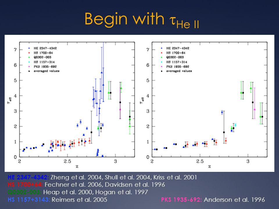 Begin with  He II HE 2347-4342: Zheng et al.2004, Shull et al.