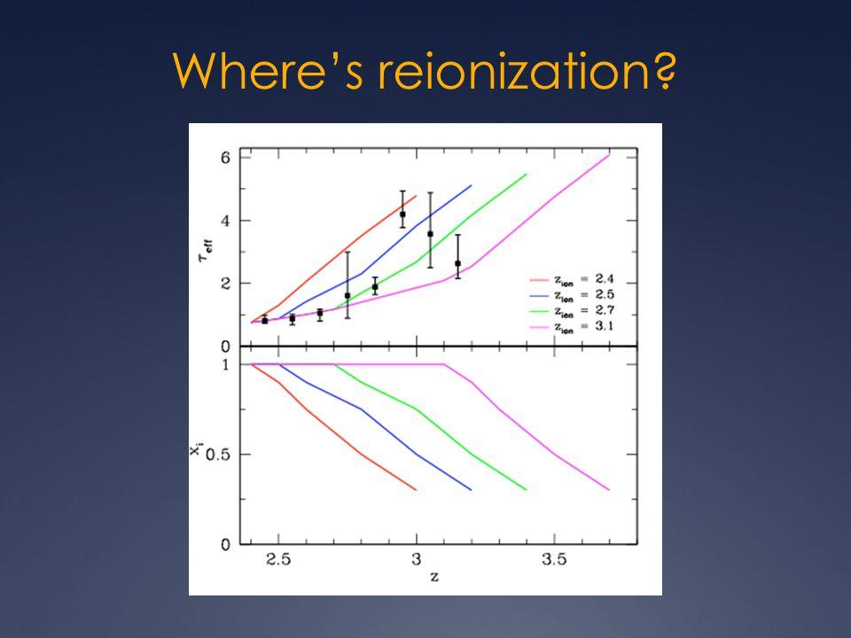 Where's reionization?