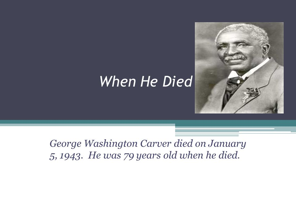Interesting Facts About George Washington Carver George Washington Carver was an American scientist, botanist, educator, and inventor whose studies an