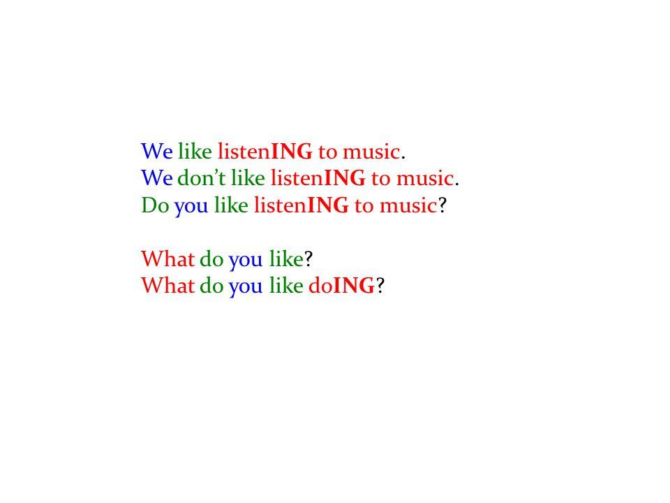 Listening / Speaking pg.