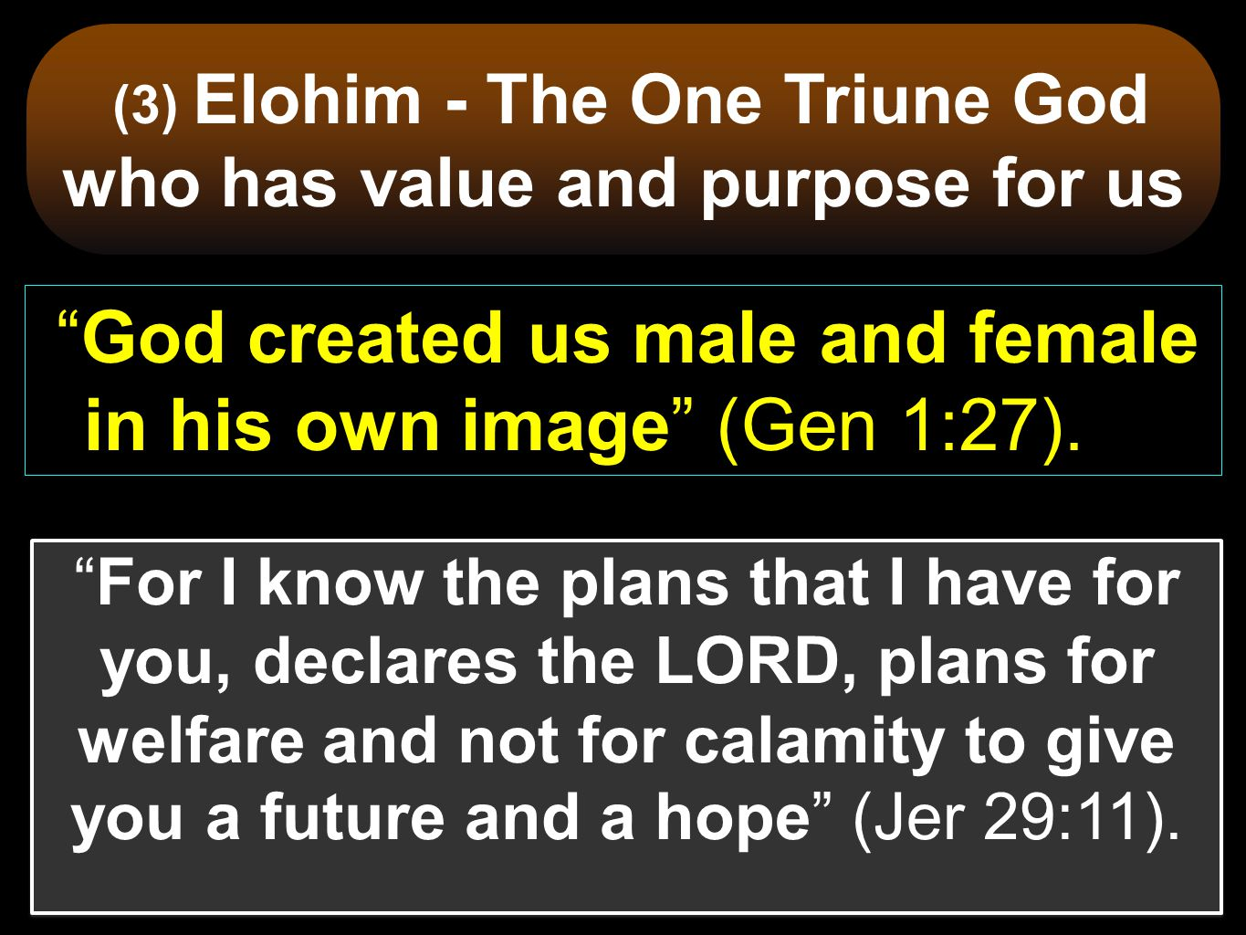 Elohim is the name which we need to know before all others.