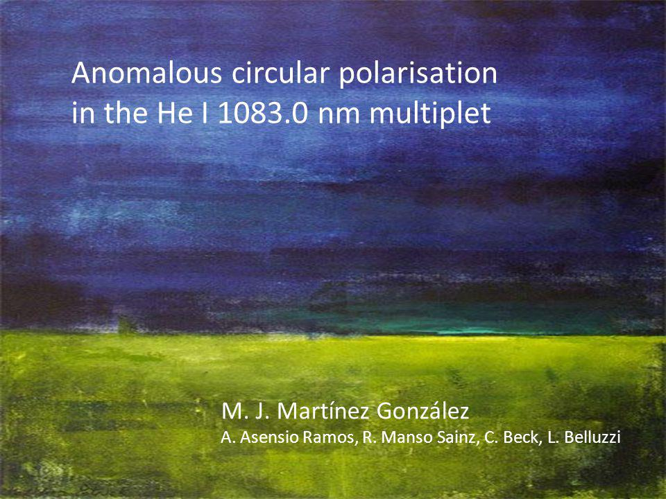 Anomalous circular polarisation in the He I 1083.0 nm multiplet M.