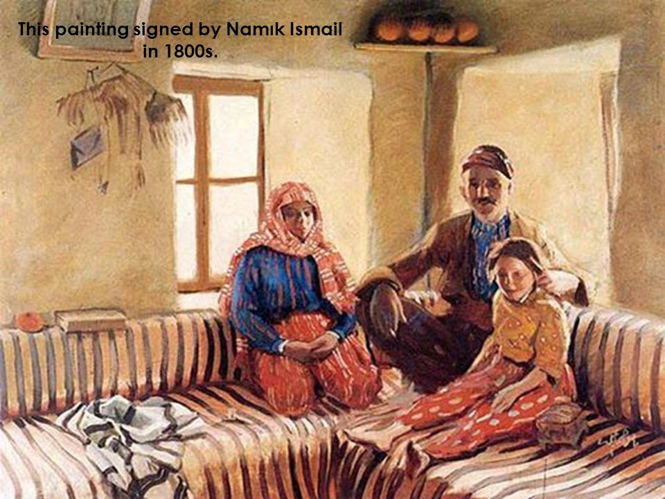 This painting signed by Namık Ismail in 1800s.