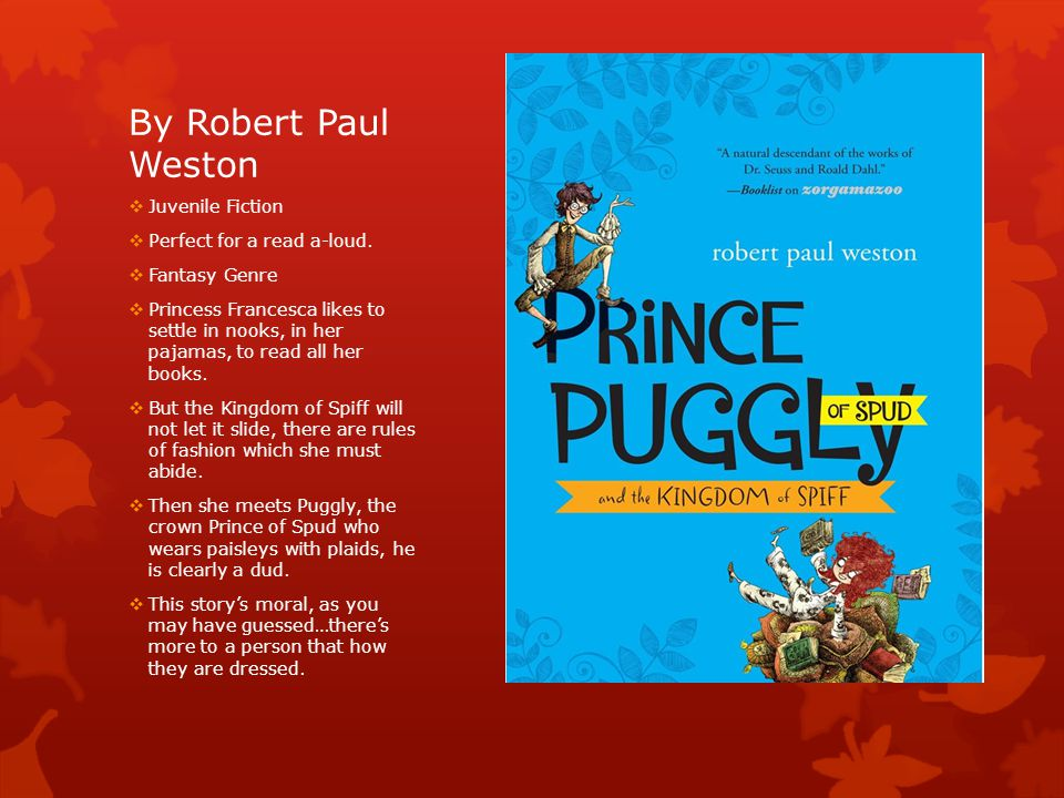 By Robert Paul Weston  Juvenile Fiction  Perfect for a read a-loud.