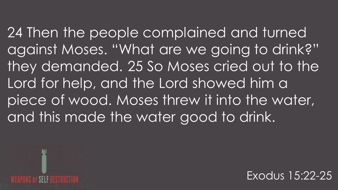 24 Then the people complained and turned against Moses.