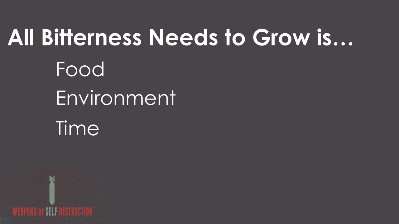 All Bitterness Needs to Grow is… Food Environment Time