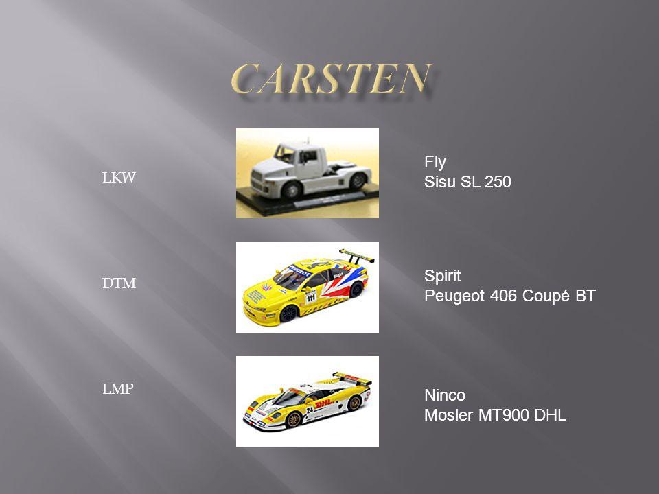LKW DTM LMP Fly Sisu SL 250 Spirit Peugeot 406 Coupé BT Ninco Mosler MT900 DHL