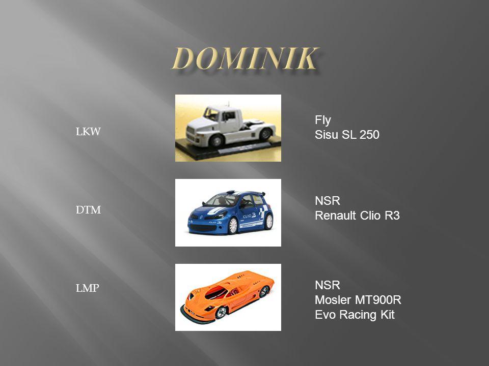 LKW DTM LMP Fly Sisu SL 250 NSR Renault Clio R3 NSR Mosler MT900R Evo Racing Kit
